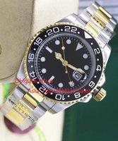 2017 Reloj de alta calidad de lujo Asia 2813 Movimiento mecánico 40MMblack frontera de cerámica GMT 116713 16713 Automatic Mens Watches