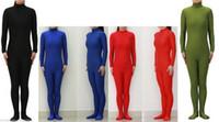 achat en gros de vert zentai noir-Noir / Rouge / Bleu / Vert Howriis Unisexe Lycra Spandex Zentai Dancewear Catsuit