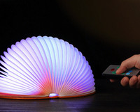 Wholesale Mini Waterproof Hemicycle Folding Colorful LED Book Lamp With Remote Control Colors Rural Style Travel Book USB Charging Night Light