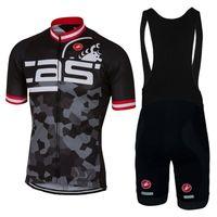 achat en gros de armée maillot xl-Army Black Cast 2017 Pro Team Cycling Jerseys Set Short Sleeves High Quality Bike Wear Tops de cyclisme + Shorts de bain taille XS-4XL Ropa Ciclismo