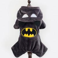 batman costume hoodie - Batman Cartoon Dog Clothes Design Pet Costume Clothing Dogs Warn rSweater Cat Dog Puppy Hoodie Winter Coat forSweater Pet Christmas Gift