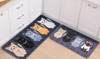 Wholesale High Quality Cute Cartoon Cats Family Entrance Door Foam Mat Bathroom Floor Anti Slip Carpet Kitchen Doormats