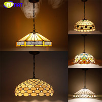 CE big green switch - European Style Tiffany Pendant Lamp Big Lampshade Light Stained Glass Suspension Light Restaurant Lamp Hotel Lights Dia cm