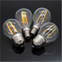 Wholesale 4W Dimmable Edison Style Antique LED Filament Globe Light Bulb Soft White LM E12 E27 G45 Clear Glass Shape W Incandescent Equivalent