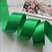 Wholesale mm Polyester Satin Ribbon yards Solid Colors Ribbon DIY hairbows Kids gift package