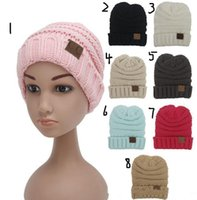 Wholesale Kids knitted Warm Cotton Beanie CC Caps Children s Crown Hat Caps Christmas Gift Newest Autumn Winter