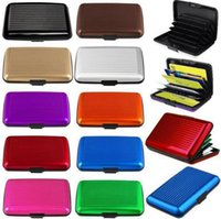 Wholesale 10 Colors Waterproof Business ID Credit Card Holder Aluminium Organizer Wallet Purse Protect Metal Case PPA849