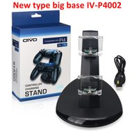NUEVA Base grande para Xbox One Playstation LED Cargador USB Dual Dock Mount Charging Stand titular para PS4 Gamepad inalámbrico Game Controllers