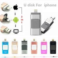 Wholesale 3 in OTG USB Flash Drive GB GB GB GB U Disk OTG Memory Sticks Pendrive For iPhone Android PC