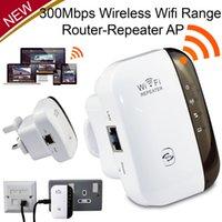 al por mayor extensor de rango expansor-Nuevo 300Mbps 802.11 Repetidor Wi-Fi Amplificador de señal inalámbrico de la gama AP Ampliador de señal WIFI Booster Booster de la señal Ampliador de rango del router AP