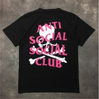 Wholesale ANTI SOCIAL SOCIAL CLUB T Shirt Men Women Paranoid Undefeated Mastermind Skeleton Japan Summer Style ASSC T shirt Tees T Shirt