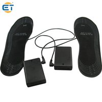 battery heated shoes - Lowest Price Customized AA Battery Warming Black Shoes Mules Clogs insoles with heated