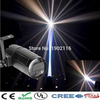 Wholesale NEW Total W LED White Beam Pinspot Light Spotlight Super Bright Lamp Mirror Balls DJ Disco Effect Stage Lighting for KTV