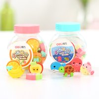 assorted erasers - Sets Deli Mini Cute Erasers Assorted Fruit and Oceanic Animals Rubbers Pieces per Set Approximately quot Each