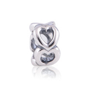 ales brands - Genuine S925 Sterling Silver Open Heart Spacer Charm beads fit European Brand Bracelets gift for mothers day ALE