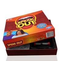 Wholesale Christmas Gift Speak Out Game KTV Party Game Speak Out Games Ridiculous Mouthpiece Challenge Game Cards for Party w