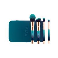 achat en gros de mini-ensembles de brosses cosmétiques-PONY EFFECT The Blue Limited MINI MAGNETIC BRUSH SET / KIT - Boîte en métal 4pcs - Coréen Kit de taille de voyage Cosmétiques - Beauty Makeup Brushes Blender