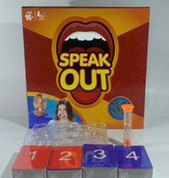 Wholesale Speak Out Game KTV Party Cards Challenge Game Watch Your Mouth Funny Board Party KTV Mouthguard Guess Words Game Hot Christmas Gift F162