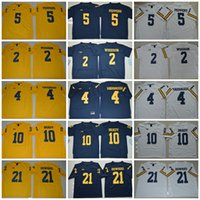 Wholesale 2017 Yellow College Jerseys Jabrill Peppers Michigan Wolverines Jerseys Tom Brady Charles Woodson Jim Harbaugh Howard Blue White