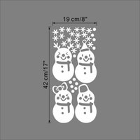 Wholesale High quality Merry Christmas snowman stickers wall sticker removable window decoration new year home decor xmas56