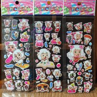 Wholesale Pleasant goat lambs Wolf cartoon sticker toys chinese movie cartoon characters sheet stickers