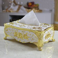 Wholesale From China hot sale High class european style large carton Creative zinc alloy tissue box KTV household items