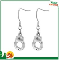 Wholesale European Charms Stainless Steel Handcuffs Earrings For Women High Quality Jewelry New Arrival Fashion Metal Stud Earrings Best Sellers