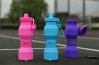 Wholesale 750 ML Folding Water Cup Outdoor Travel Telescopic Collapsible Drinking Portable Silicone Retractable Bottle yeti Sports Mug water bottle