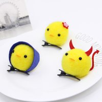 Wholesale 2017 the year of rooster high quality acting cute yellow chicken hair clips