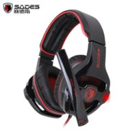 best gamer headphones - Sades SA Gaming Headset Surround Sound channel USB Wired Headphone with Mic Volume Control Best casque for Gamer