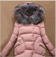 Women Chiffon,Polyester Pullover European Pop 2016 Winter fall Female fur collar hood thick long down coat Women's Clothing Outerwear Jacket Parkas actual photo