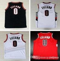 Wholesale High Quality Stitched Men Rip City Black Red Jersey size S XXL Damian Lillard