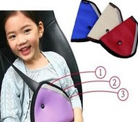 Wholesale Triangle Child Baby Kids Car Safety Seat Belt Holder Car Accessories Comfortable Child Adjuster Seatbelt Strap Clip Cover KKA1230