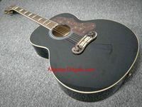 2017 guitarra nueva marca SJ200 6 cuerdas negro guitarra acústica en stock China guitarras