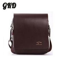 australia messenger bag - Men s Bag High Grade PU Leather Men Messenger Bag Australia Kangaroo Logo Zipper Shoulder Bags Briefcase A9101