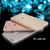 acrylic edge lighting - Mirror Acrylic Phone Case For iPhone s Plus G Samsung A9 S6 Edge S7 LG V10 G4 Light Bling TPU Ultra thin Protective Back Cover Cases