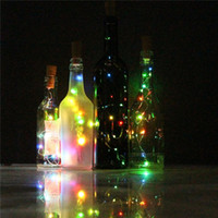 Wholesale NEW Wine Bottle Cork Shape Lights with LED Copper Wire light Starry Light For Bottle DIY Christmas Wedding and Party Halloween
