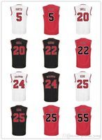 Wholesale 2016 Red Black Printed Tony Snell Steve Kerr Jersey Twaun Moore Bobby Portis Taj Gibson Brian Scalabrine