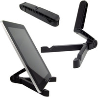 Wholesale BRAND NEW UNIVERSAL FOLDING FOLD UP COMPACT TRAVEL STAND HOLDER FOR TABLET E READER iPAD iPhone SUMSANG HUAWEI XIAOMI HTC