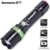 Wholesale Bicycle lamp headlight night biking outdoor lithium flashlight flashlight charging long range zoom