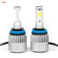 achat en gros de phares 12v-Plug and Play universel 12V 24V H1 H4 H7 H13 H11 9005 9006 Bridgelux 72W 8000LM LED COB LED Projecteur de brouillard pour voiture
