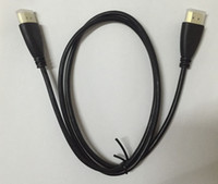 Wholesale HDMI to HDMI Cable v1 Audio Video Cable M ft cable Version Gold P mini order with PE BAG package
