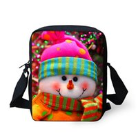 Wholesale FORUDESIGNS New Style Top Shoulder Messenger Cross Body Girl Printed Cute Bags For Teenage Merry Christmas
