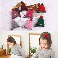 barrett hair clip - New Fashion Barrett Children Christmas Gift Cute Korean Wool Hat Hair Clips Hairpins Girls Hair Accessories for Girls Women Headwear