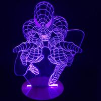 amazing desks - Piece Creative Spiderman D Desk Lamp Amazing Spider man Night Light Lampada de parede Xmas Gift Table Lamp