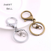 Wholesale SWEET BELL Min order mm Key Ring Key Chain two color Rhodium Plated Lobster Clasp Round Split Key chain Y01054