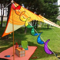 Wholesale New Hot Tent Decorative Colorful Nylon Rainbow Spiral Wind Spinner Outdoor Kite Tail Windsock Tent Garden Home Decorations