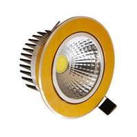 Wholesale Recessed COB LED Downlight AC V W W W W Dimmable LED Downlights with Bulbs