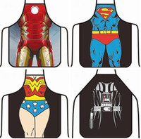 apron christmas - Aprons Star Wars Wonder Women Anime Cartoon Character Series Kitchen Apron Funny Personality Cooking apron Christmas Gifts Newest