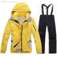 Wholesale Hot Female outdoor sports jackets winter ski suits jackets windproof waterproof breathable pants